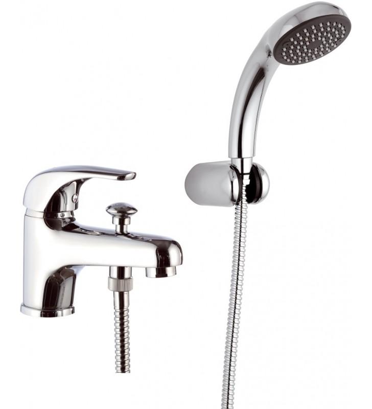 Rubinetto lavabo/vasca con deviatore integrato e kit doccia - serie project Remer P03
