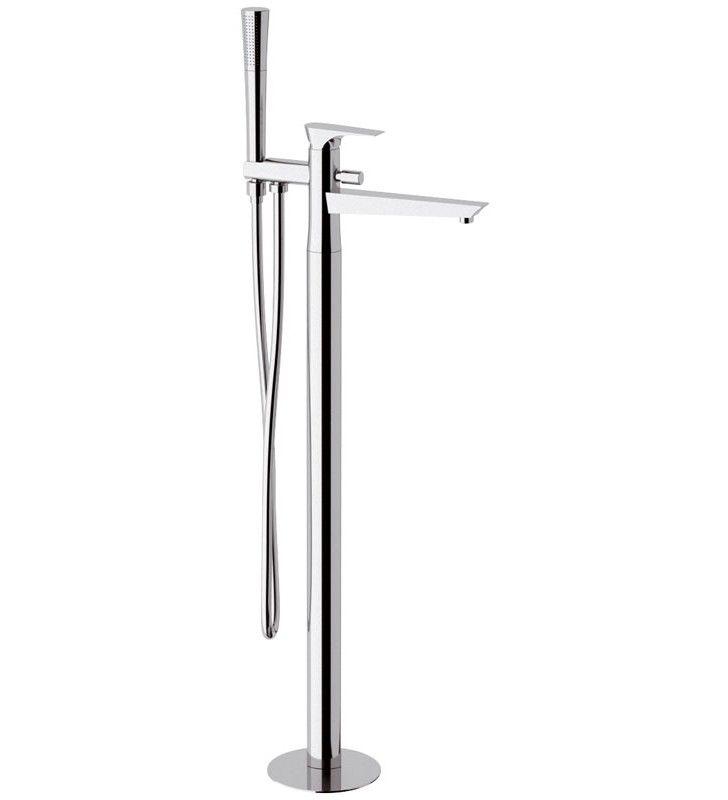 Miscelatore vasca da pavimento con deviatore e kit doccia - serie diva Daniel Rubinetterie DV678CR