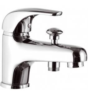 Rubinetto lavabo/vasca con deviatore integrato - serie project Remer P04