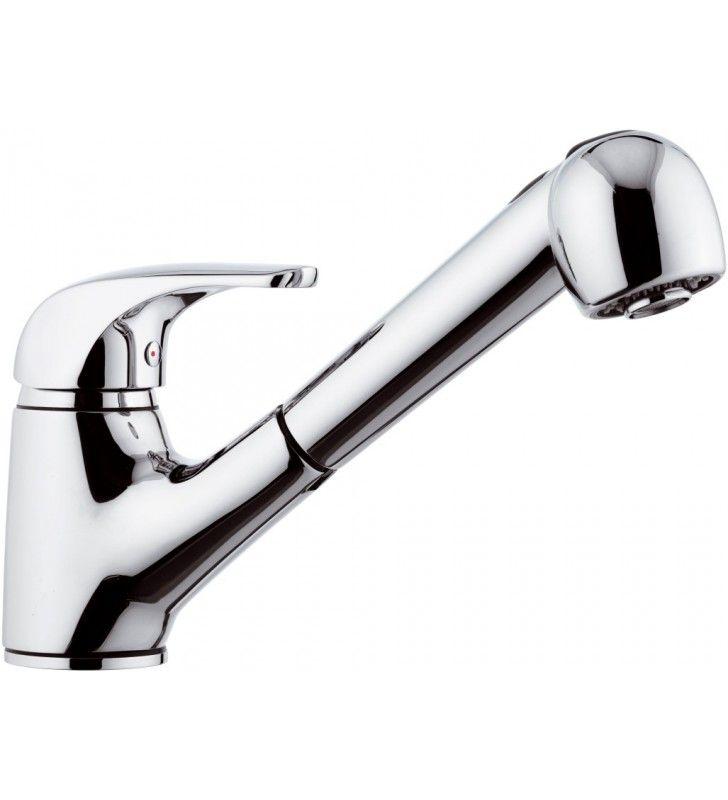 Rubinetto lavello con doccia estraibile - serie project Remer P47