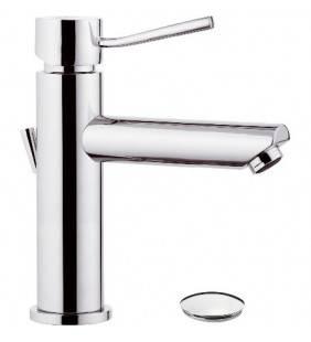 Miscelatore monocomando per lavabo design minimale con o senza scarico Remer N1XA
