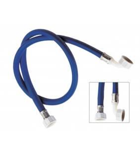 Tubo di carico per lavatrice, colore blu con curvetta 150 cm  291150BL