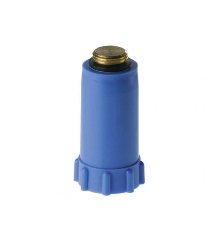 Tappo di collaudo impianti blu ottone Remer 140BL12