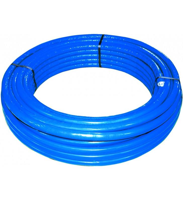 Rotolo mt. 50 tubo multistrato dm.20 rivestito blu Idrobric SFURMT0052BL