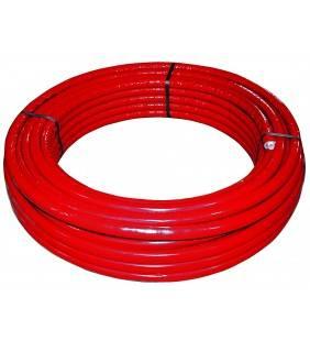 Rotolo mt. 50 tubo multistrato dm.16 rivestito rosso Idrobric SFURMT002650