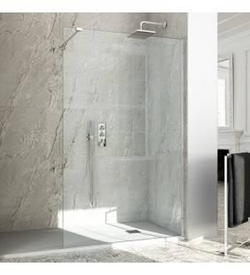 Parete doccia a muro aperta con sistema Walk - Italo Semplice 99-100