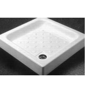 Piatto doccia acrilico cm 80 x 80 quadrato con sifone