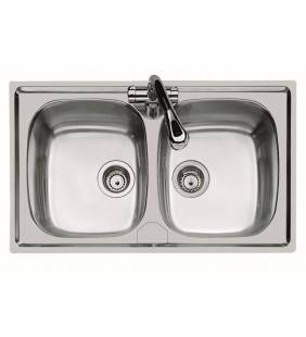 Lavello inox 2 v.79X50 inc. Foster SPA U810202