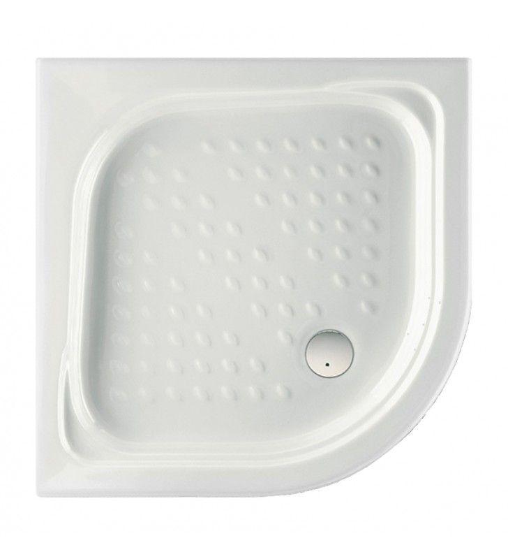 Piatto doccia semicircolare Malta cm 80 x 80