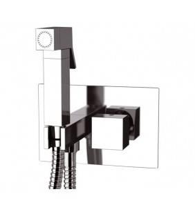 Shut-off con doccetta, supporto doccia-presa acqua su piastra - serie oxy Daniel Rubinetterie OX23642CR