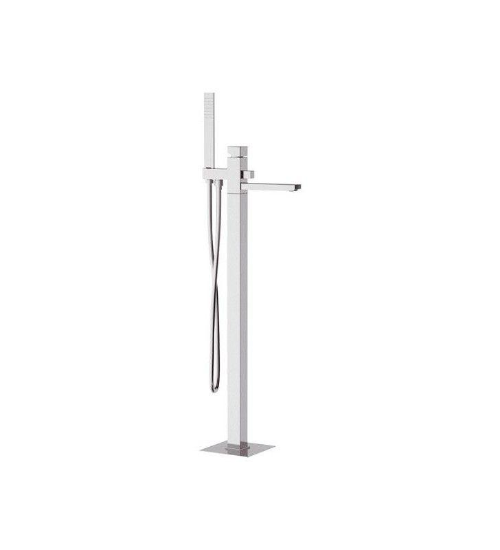 Rubinetto vasca da pavimento altezza bocca cm 85 con deviatore e kit doccia serie oxy - Vasca da bagno altezza ...