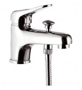 Rubinetto lavabo/vasca con deviatore integrato e kit doccia - serie kiss Remer K03