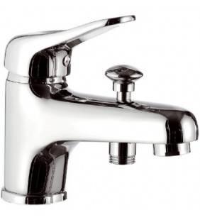Rubinetto lavabo/vasca con deviatore integrato senza kit doccia - serie kiss Remer K04