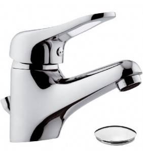 Miscelatore lavabo serie kiss remer con scarico cromato Remer K10