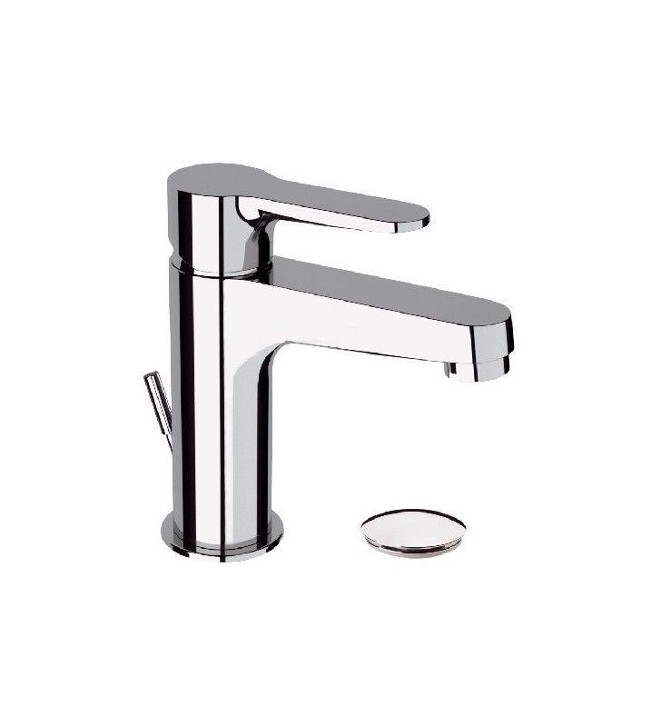 Miscelatore Qubika per lavabo design moderno completo di piletta