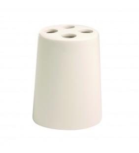 Porta spazzolini bianco - Serie Maya