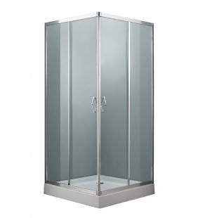 Box doccia quadrato 77-78 x 77-78 x 185 sp. 4 Mm Idrobric SCACER0227CR