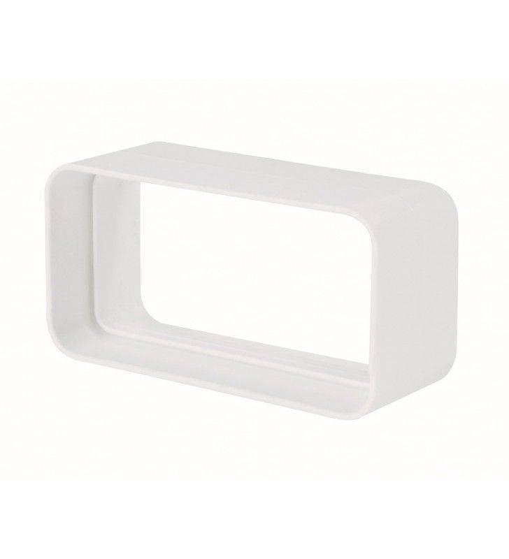 Giunto rettangolare 55x110mm bianco per cappe Idrobric SFUASP0072BI