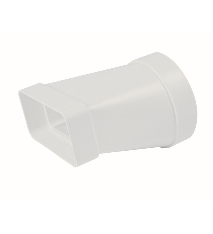 Adattatore rettang. circolare 100-55x110 bianco per cappe Idrobric SFUASP0074BI