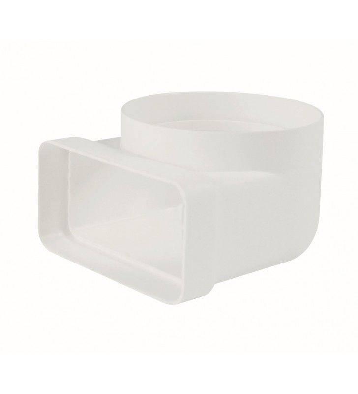 Gomito 90gradi rettang. circolare 100-55x110 bianco per cappe Idrobric SFUASP0075BI