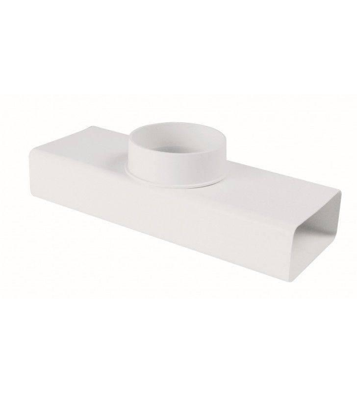Raccordo a t rettangolare tondo 55x110-100 bianco per cappe Idrobric SFUASP0082BI