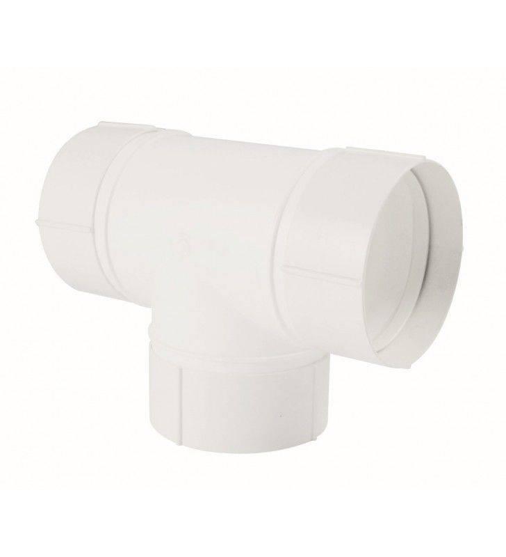 Raccordo a t circolare 100mm bianco per cappe Idrobric SFUASP0083BI