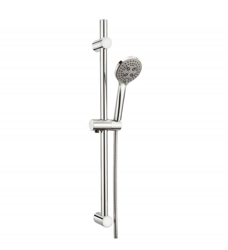 Saliscendi serie lady con doccino a tre getti e altezza regolabile (MM1) Idrobric BLISAL0132CR