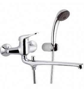 Rubinetto lavabo/vasca con deviatore e kit doccia duplex serie kiss Remer K49