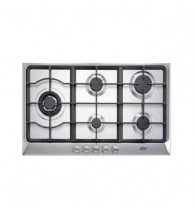Piano gas per cuicna ad incasso con 5 fuochi in acciaio inox satinato. HDS7T0 Artes 75