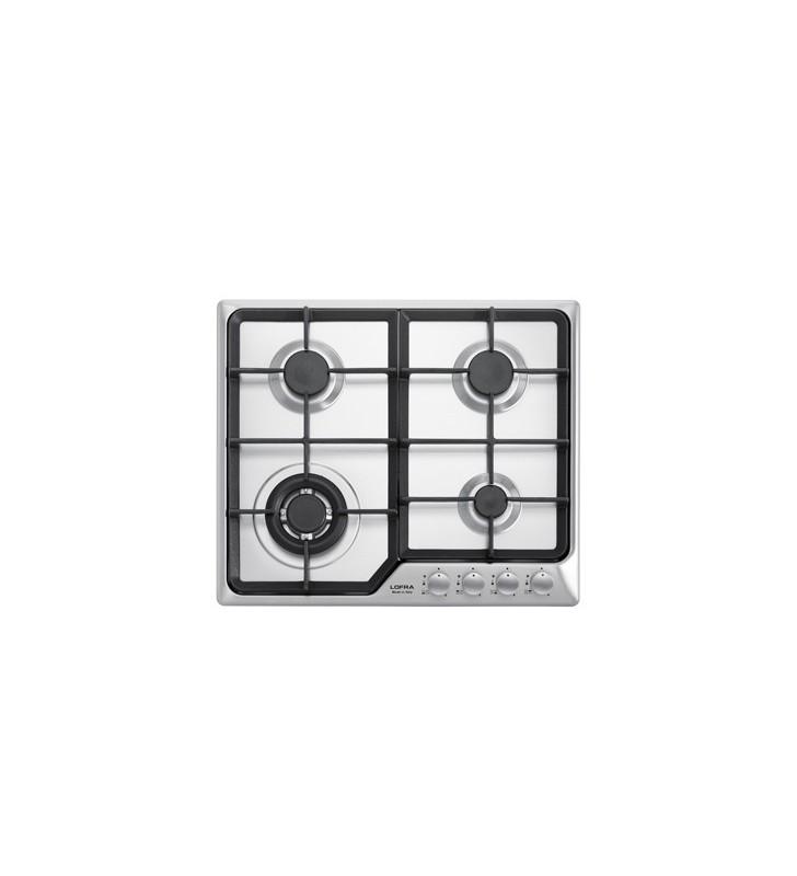 Piano cottura 60 cm in acciaio inox satinato per cucina ad - Piano cucina acciaio inox ...