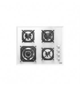 Piano cottura in vetro bianco con 4 fuochi e accensione elettronica. Hgb6h0 mercurio 60 white Lofra 29210215