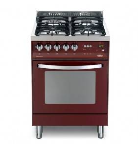 Cucina con forno elettrico e piano cottura rosso burgundy pr 66gvt/c Lofra 41020095