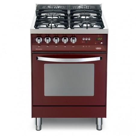 Cucina con forno elettrico e piano cottura rosso burgundy pr 66gvt/c ...