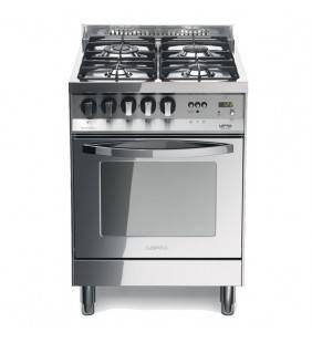 Cucina Total Inox con piano in acciaio lucidato a specchio, design moderno PL 66GVT/C