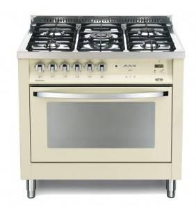 Cucina color avorio con forno elettrico e piano cottura a specchio pbig 96gvt/c Lofra 41060098