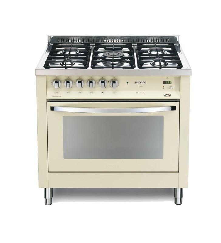 Cucina color avorio con forno elettrico e piano cottura a specchio pbig  96gvt/c