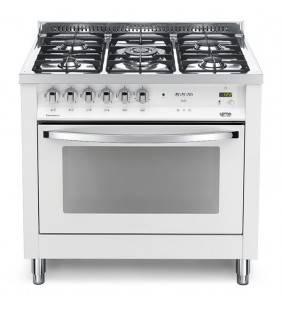 Cucina bianco perla con forno e piano cottura elegante e raffinato, classe a pbpg 96mft/c Lofra 60060033
