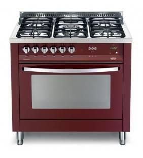 Forno elettrico e gas con 5 fuochi rosso burgundy prg 96mft/c Lofra 60060030