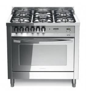 Cucina total inox con paino lucidato a specchio classe a 5 fuochi plg 96mft/c Lofra 60060034