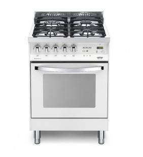 Cucina con piano cottura e forno bianco perla PBP 66GVT/C