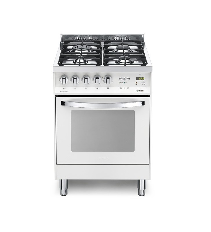 Cucina con piano cottura e forno bianco perla pbp 66gvt/c Lofra 41020098