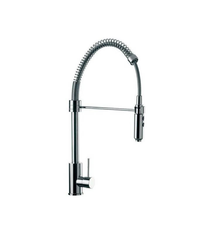 Miscelatore laterale per lavello cucina, alto, con bocca girevole, daniel rubinetterie serie suvi Daniel Rubinetterie S20694CR