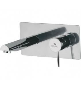 Miscelatore monocomando a incasso per lavabo, con piastra rettangolare - serie suvi Daniel Rubinetterie S20632CR