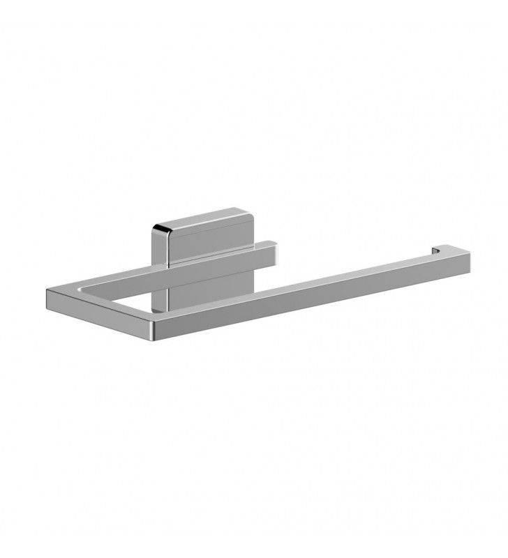 Porta salviette serie cubo 20 cm ideale per bidet - fissaggio ad incollo o con viti Aquasanit A20189XCR
