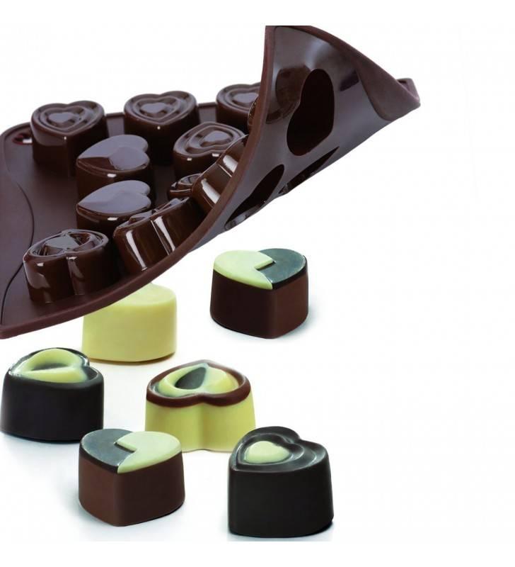 Choco ice in love, stampo per cioccolatini a forma di cuore Pavonidea CHOCO03