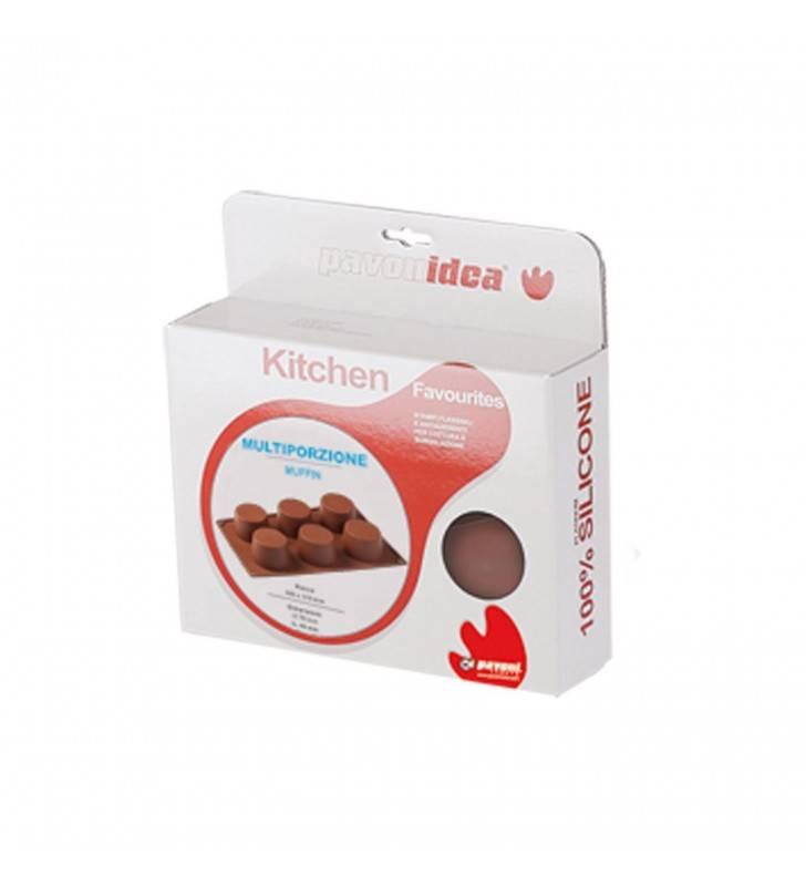 Stampo in silicone per muffin, 6 porzioni Pavonidea FR008