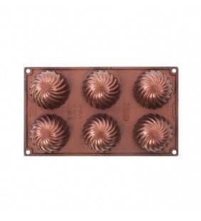 Stampo per dolci multiporzione a forma di vortice Pavonidea FR096