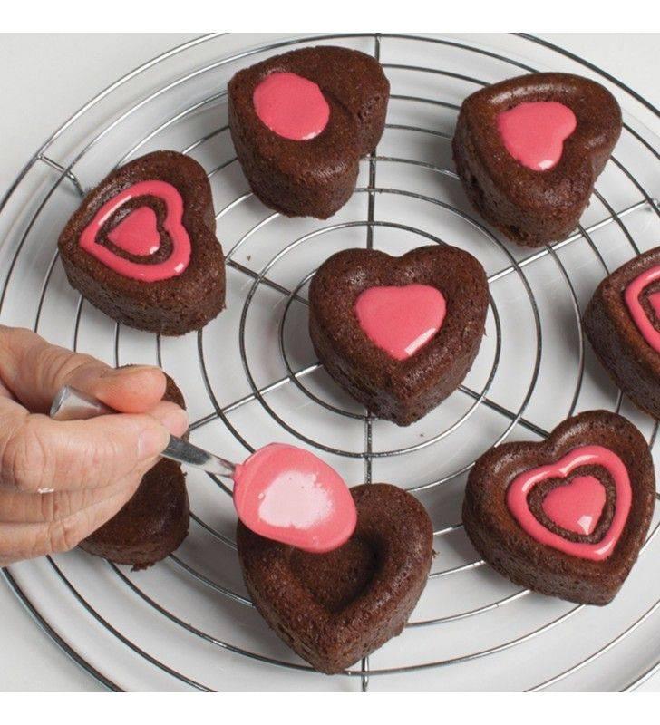 Stampo multiporzione per muffin a cuoricini Pavonidea FR064