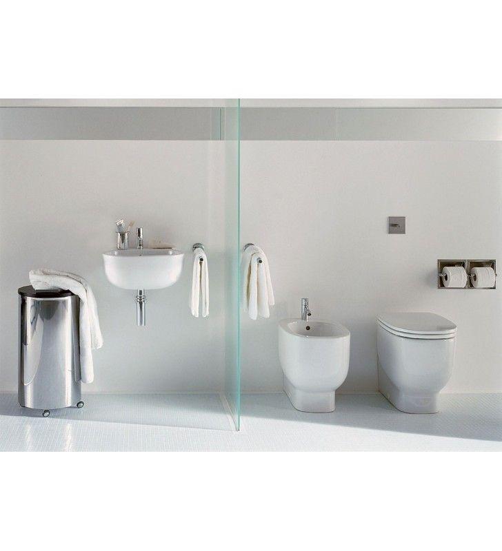 Set completo sanitari a terra di design con lavabo sospeso - Sanitari bagno tradizionali ...