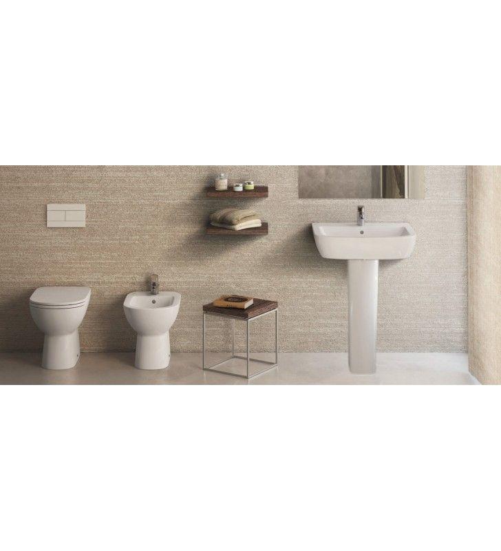Set sanitari a terra con lavabo gemma 2 ceramica dolomite - Sanitari bagno tradizionali ...